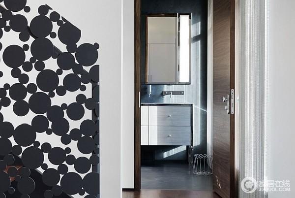 灰色优雅加拿大公寓 雕花玻璃美丽至极