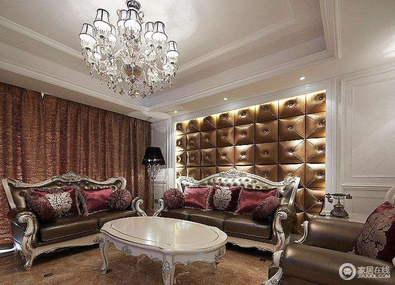 新古典与简欧共存 共同演绎炫丽新家_红色欧式客厅