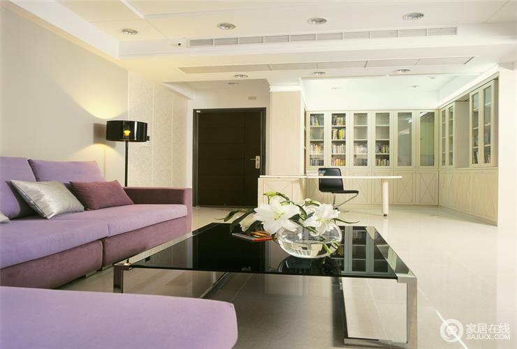 简约时尚12平米客厅欣赏_现代_395152-家居在线装修