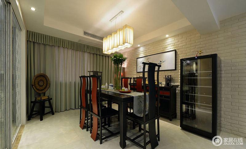 中式现代餐厅家居设计装饰效果图