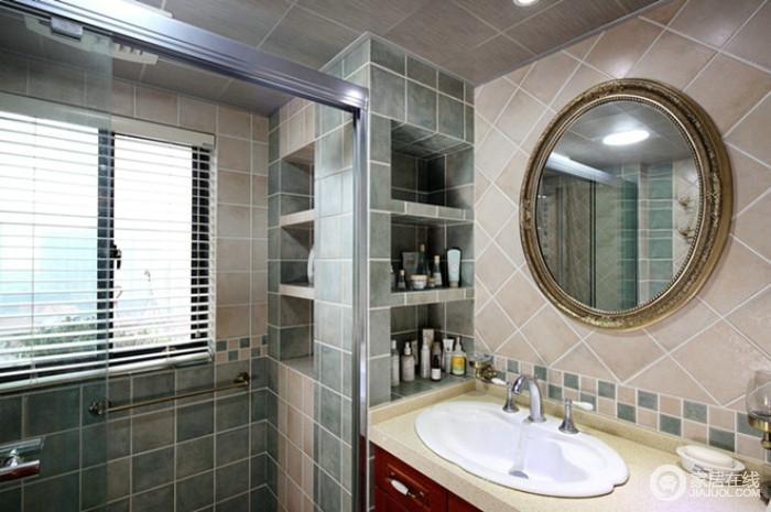 混搭风格精致型卫生间设计图