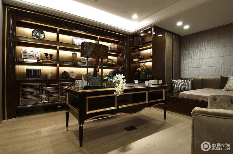 欧式豪华风格书房室内装修效果图