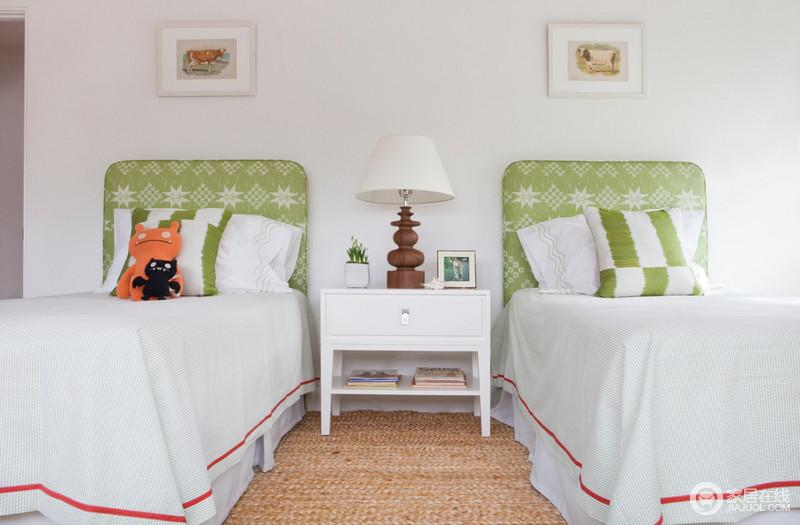 儿童房装修效果图双床