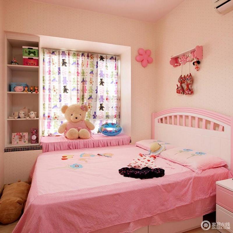 现代简约粉色儿童房装饰