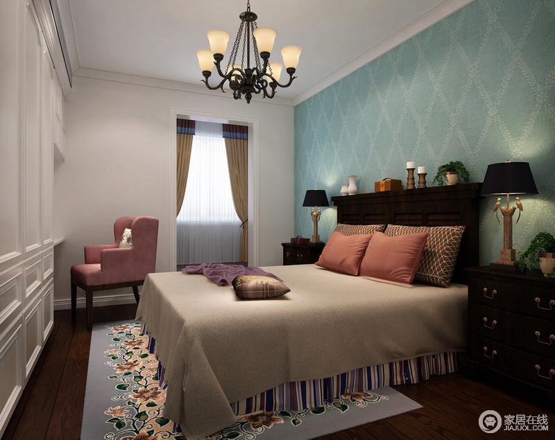 卧室灰色地毯效果图