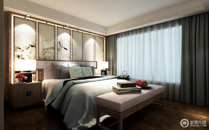現代新中式客廳窗簾效果圖 齊家網裝修效果圖