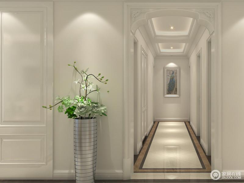 装修图库 欧式 走廊异形垭口,通过完美地曲线,精益求精的细节处理