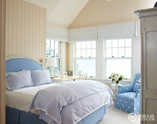 欧式风格的卧室设计 27款图片帮你鉴赏_蓝色田园_350