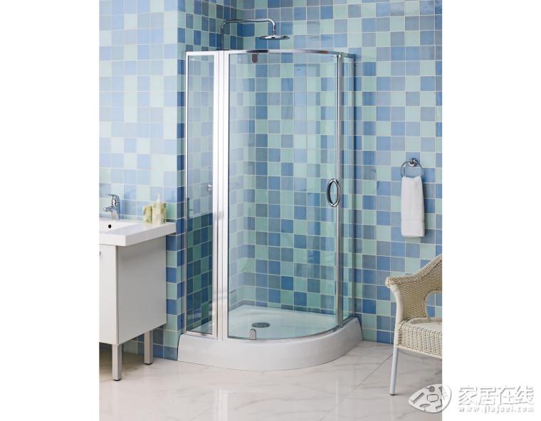 科勒k-17220t-l瓦伦西亚圆弧型淋浴房