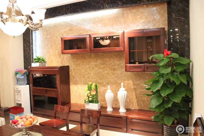 一木方圆 组合电视柜(含四门酒柜平柜吊柜)图片