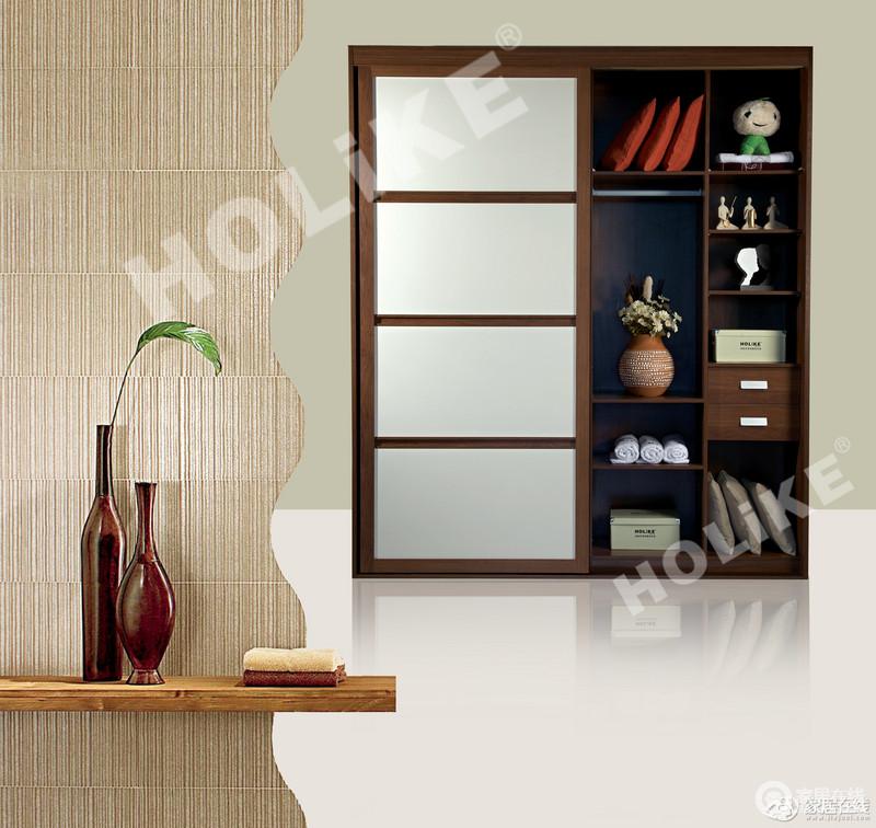 家具 衣柜 好莱客 默认系列 好莱客 荷花白衣柜 金柚木th边框