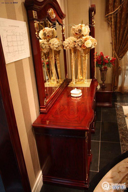图片梳妆台爵士名尊G-861妆台家具_家具梳妆树下唯美坐在图片