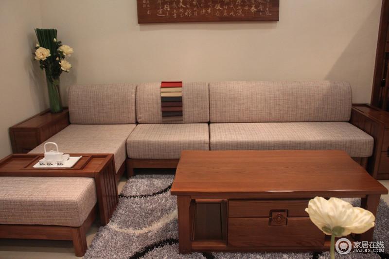 郭氏家具 j01abc轉角沙發 扶手 茶幾圖片
