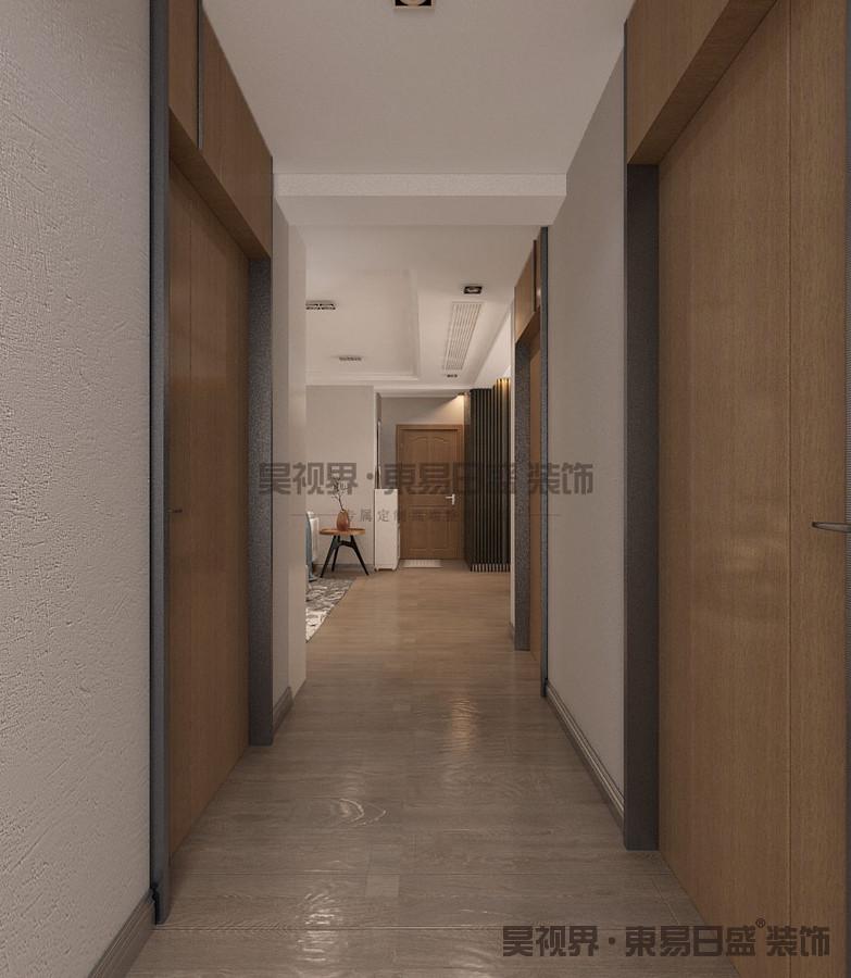 设计师在设计上定位为简约的基调,采用简洁的元素,通过木饰面等不同元素的材质、块面分割对比和排列的方式变化,让空间在简洁的基础上富有变化和韵律。