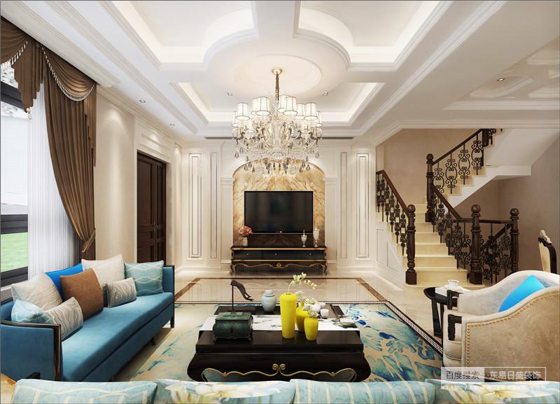 富于造型的欧式家具风格介绍:散发出浓浓的欧式乡村情怀,轻松恬静。古朴的米色地砖和富于造型的欧式家具让整个空间温暖和煦,墙面简洁的壁炉造型平添几许生活气息。