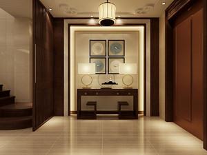 新中式風格門廳裝修效果圖