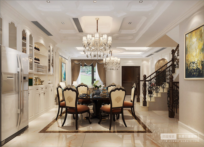 如果说古典欧式风格线条复杂、色彩低沉,而简欧风格则在古典欧式风格的基础上,以简约的线条代替复杂的花纹,采用更为明快清新的颜色,既保留了古典欧式的典雅与豪华,又更适应现代生活的休闲与舒适。