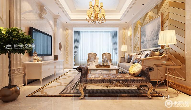 欧式风格客厅区域