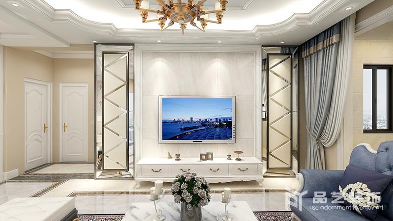 錦繡園三居室-電視背景墻