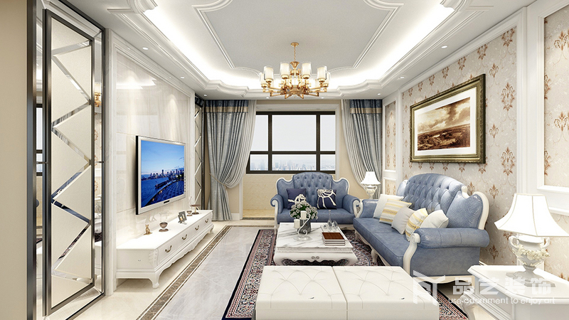 錦繡園三居室-客廳