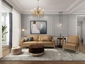 现代混搭三居 重走轻奢范儿135平米三居室