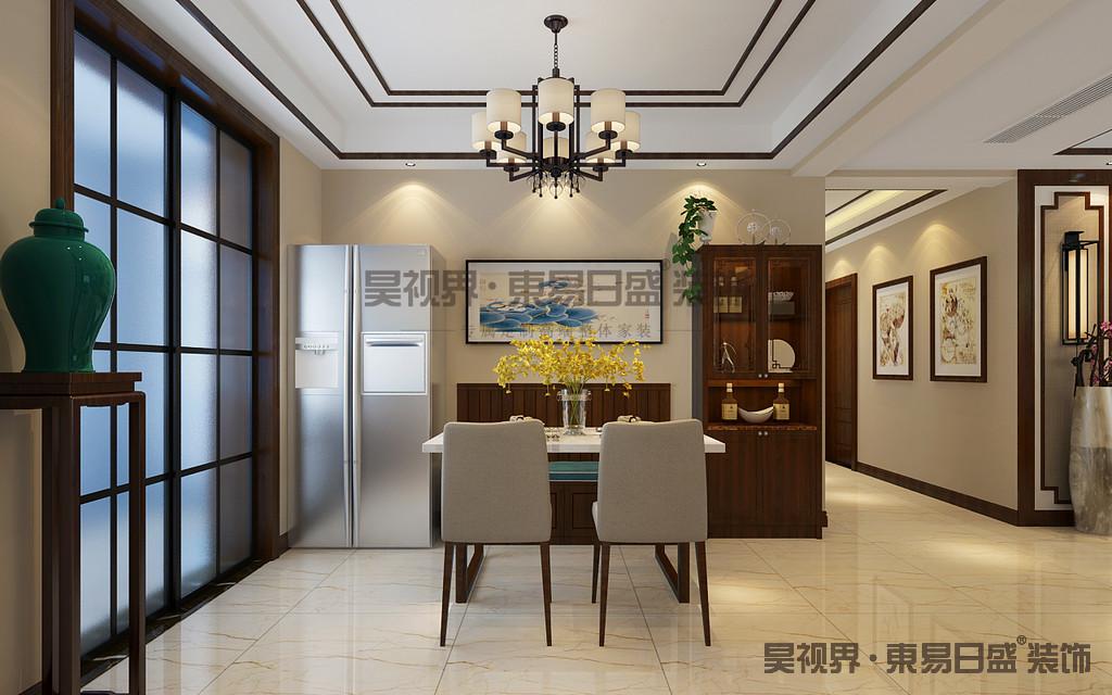 餐厅和客厅相互连通,使整体空间更加开阔通透,围绕简居简行的原则,空间界限的划分自然而清晰。