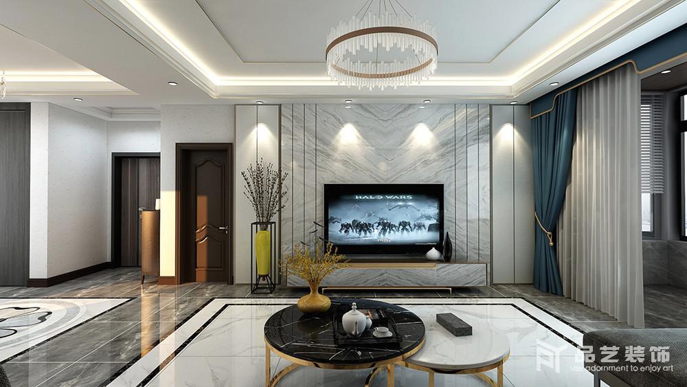 太原天鹅堡三居室-客厅电视背景墙