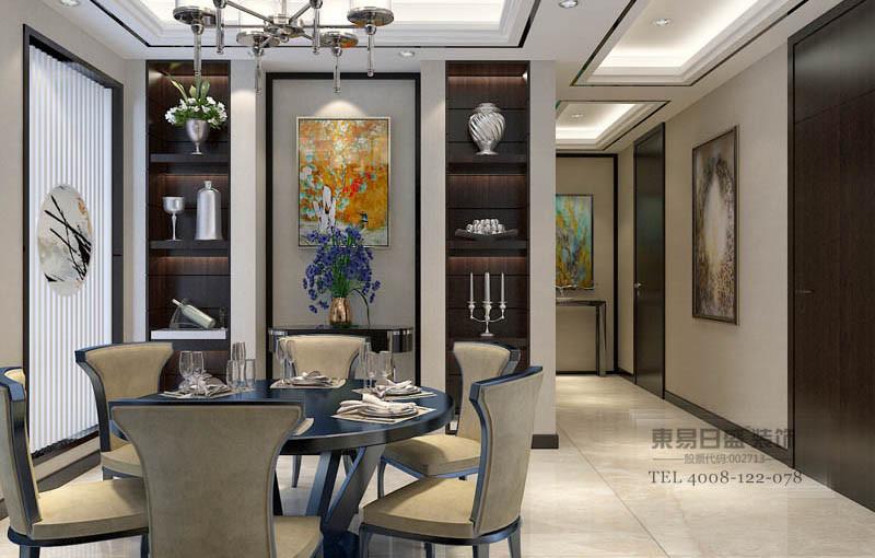 新中式客餐厅装修效果图