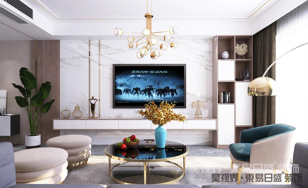 """在色彩选择上,轻奢风格一般会选用带有高级感的中性色,诸如驼色、象牙白、奶咖、黑色及碳灰色,来演绎一种""""低调的奢华"""",令空间质感更为饱满。"""
