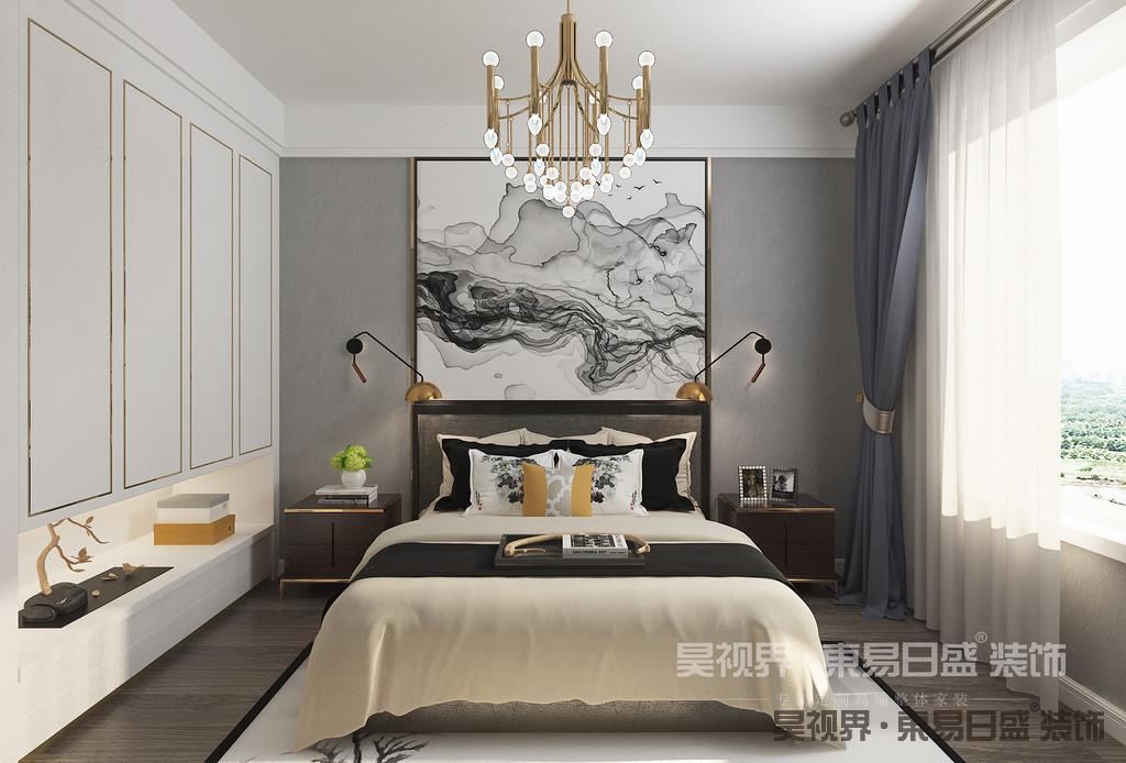 卧室的功能从未有太多的变化,它一直是睡眠、休息、存放衣物的主要场所,是居室中最个人化的空间。在这里同样采用柔和的色调来表现的这个卧室的无限温馨。金属质感装饰物又凸显了轻奢的主题。