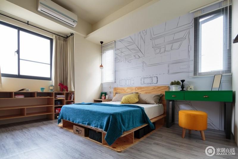 安逸是特别重要的在卧室里地区,工业元素备用。