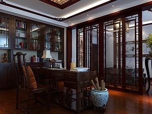 新中式風格書房裝修效果圖