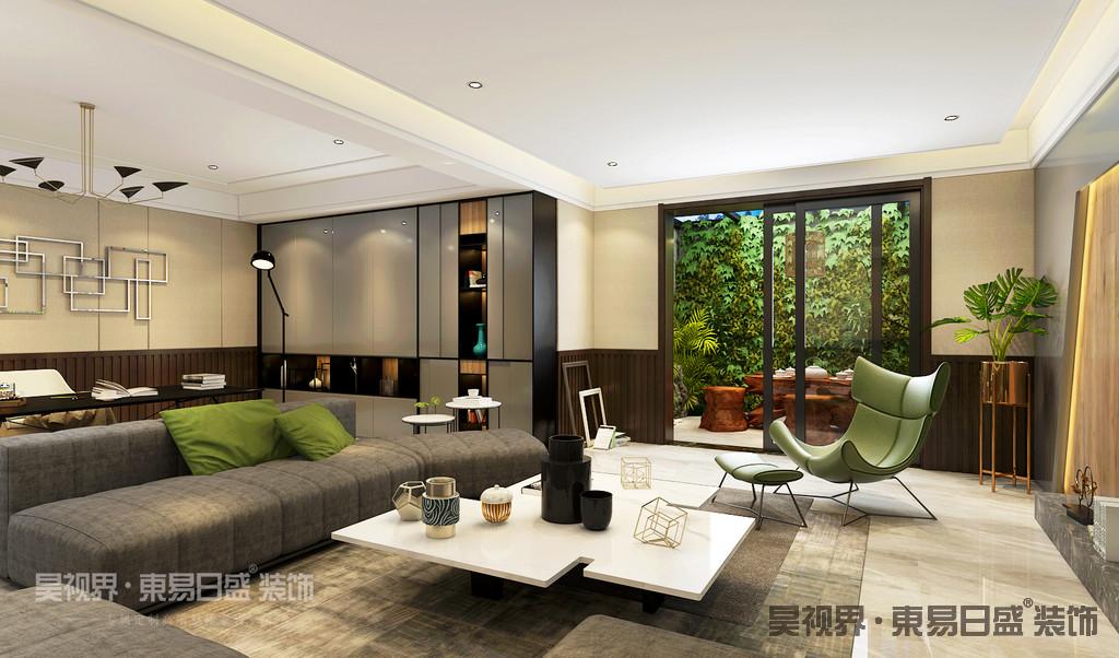 本案地下室通风采光优良,将地下室设计为家庭娱乐室加茶室,充分满足了客户的喜好。