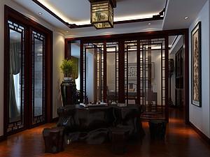 新中式風格休閑室裝修效果圖