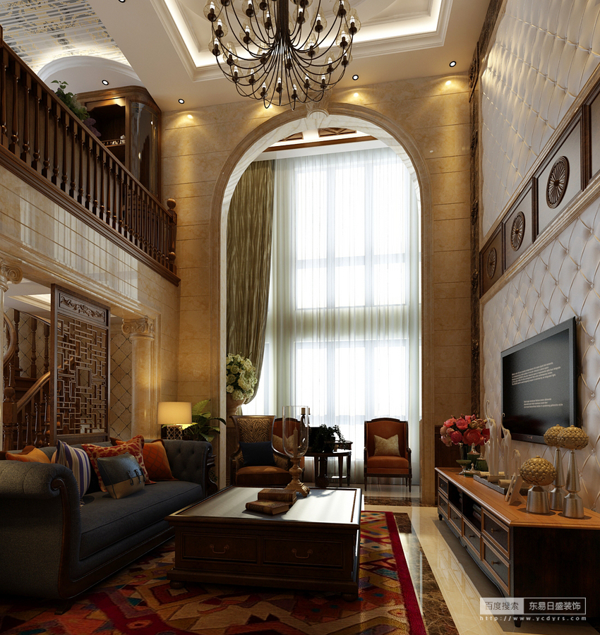 米色大面积墙布却不使人感到客厅空旷