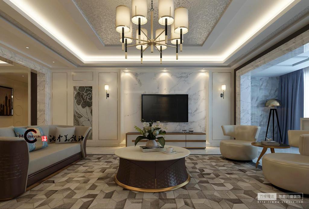 背景墙与沙发的完美融合