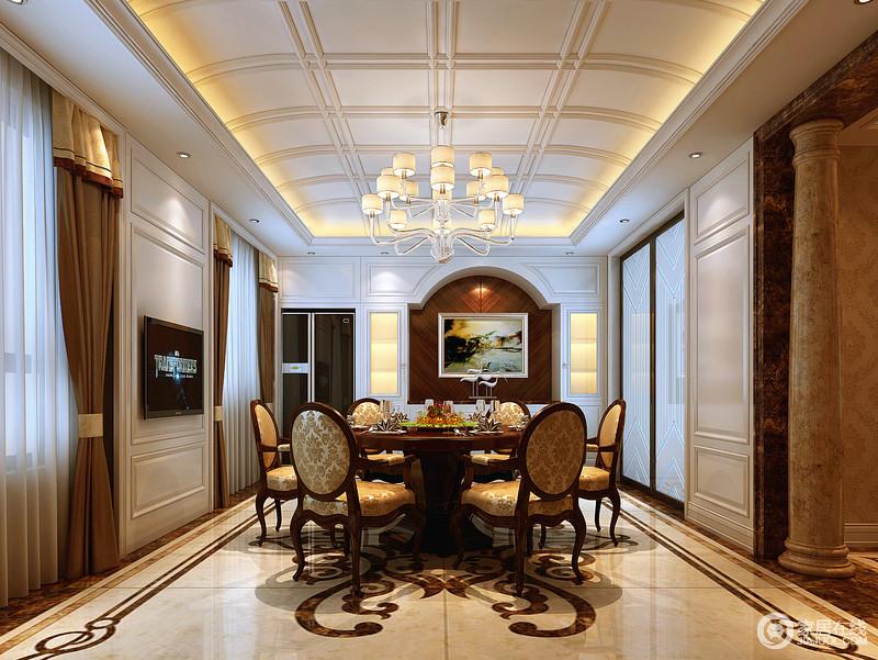 新古典主义建筑通过对称和装饰物来表现,这在各类建筑中都有明显的体现。灵活运用到室内设计中,营造高贵典雅大气的装饰效果。