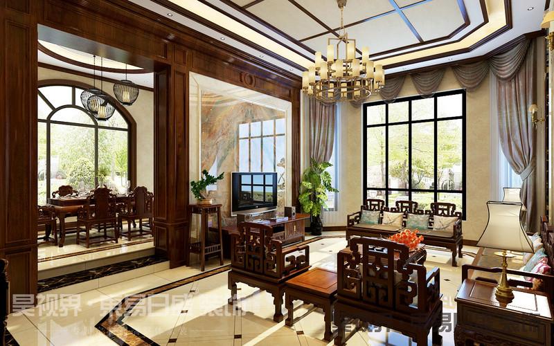 在装饰设计上不局限于面的点缀,而是用花格、古典家具、饰品来演绎空间,给整个空间带来勃勃生机。