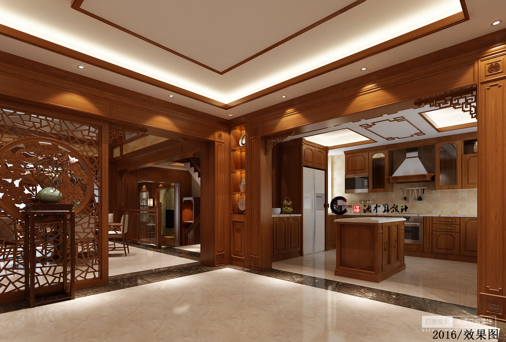 中式的厨房采用西式的开放,是主妇们的热爱