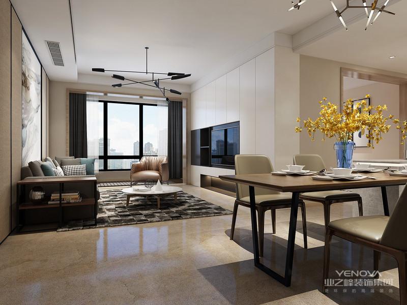 在空间的设计上强调的是室内空间开阔的理念,是在中小户型中经常采用的设计风格。这样的设计风格没有过多的装饰物,主要以简单的线条和装饰简洁的造型来体现出现代简约型的设计。