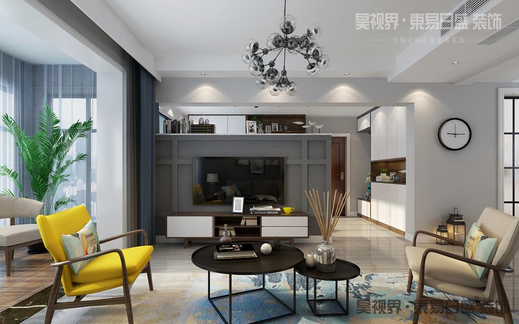 客厅采用硅藻泥的造型墙,更扣主题含蓄内敛,又不失视觉效果。