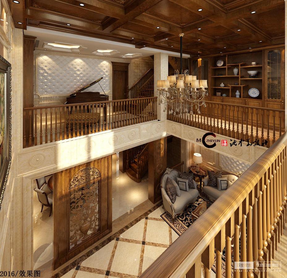 二楼的钢琴的摆放是更好的向他人展示音乐悠扬