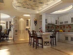 美式風格廚房裝修效果圖