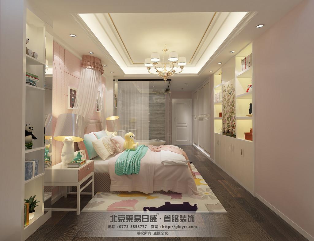 女儿房整体色调用粉色装饰,搭配一点白色,整体风格清新、可爱,让孩子有公主般的享受。