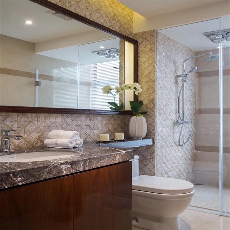 中式风格卫生间一般以实用为主,把装饰方面做好,两者进行结合,一样完美大气。