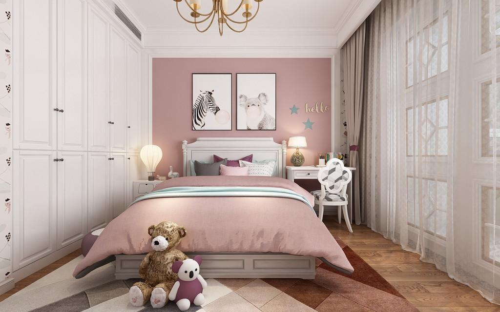 次卧是儿童房,粉粉的少女心。