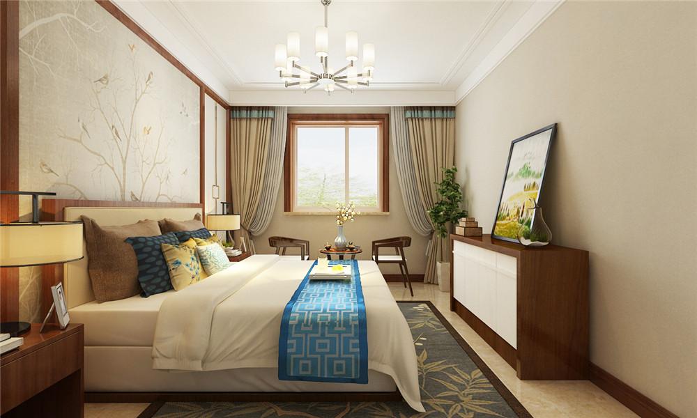 主卧也采用了中式风格,温馨舒适。