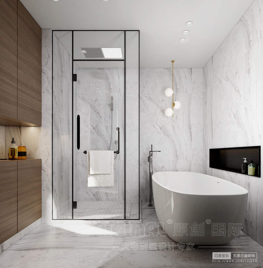 整个空间以放大空间的设计手法,将客餐厅和厨房这些日常活动空间无死角的连接在一起,从而扩大整个空间的活动性和互动性。使得整个空间形成一个整体,给人一种敞开心扉的氛围。二楼所构建的套间概念满足了一个个人专属的小天地。并且通过墙体改造和阳光房的搭建,极大地改造了原有露台的弊端,给人构造了一个安享下午时光的空中花园。整个空间基本采用大面积的白系色块、原木色护墙、大板块的石材以及仟细简洁的金属线条,使得整个空间在简单的同时透着浓郁的设计感和对自然的亲切感。生活就应该这样,进了家门,就是进入了一个自己专属世界,需要你
