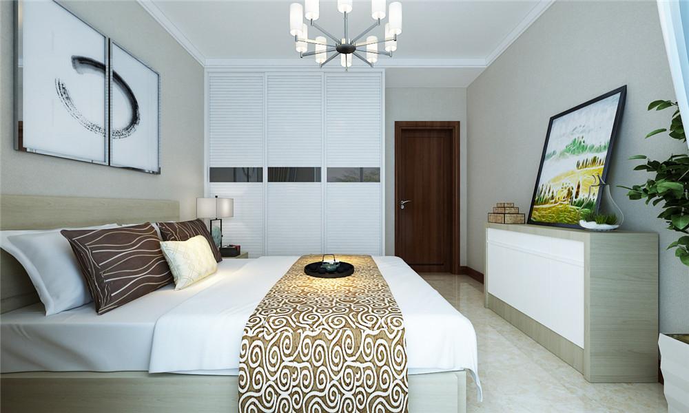次卧整体采用白色,放大了空间。