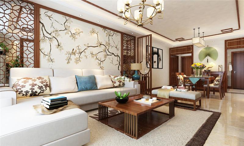 客厅整体搭配恰到好处,没有过分繁琐的装饰,也没有显得空旷。